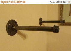Metal Pipe Shelf Brackets Rustic shelf brackets by huntleyswood