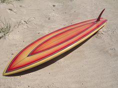 Jeff Hakman Flyer Swallowtail Single Fin Surfboard