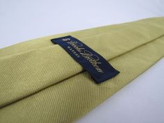 BROOKS BROTHERS Makers Tie Shimmering Sold Gold Satin Silk Power Necktie #BrooksBrothers #Tie