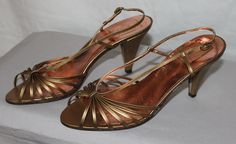 Vintage Women's Open Toe Strappy Shoes by by ilovevintagestuff