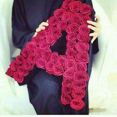 Alphabet Letters Design, Alphabet Images, Cute Letters, Picture Letters, Flower Letters, Calligraphy Alphabet, Initial Letters, Islamic Calligraphy, Red Wedding Shoes
