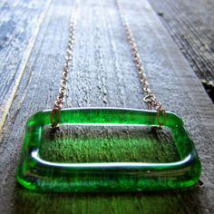 Jagermeister Bottle Necklace    www.revetro.etsy.com