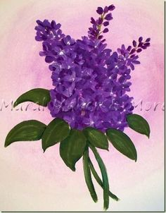 How to paint lilacs with craft acrylics using my Layering Techinque.