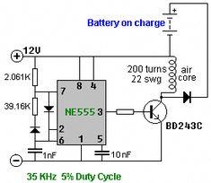 Simple Ultrasonic Generator circuit schematic diagram