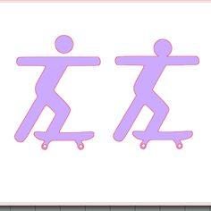 fichier sst ** skater skate ** decoupe pour silhouette studio cameo vectorisation vecto
