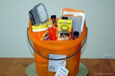 When you think of gift baskets food usually comes to mind. Here are some other creative ideas for gift baskets.