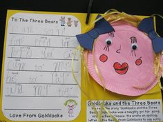 Goldilocks apology letter plus craft