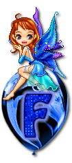 Alfabeto hadas en blogo azul. | Oh my Alfabetos!