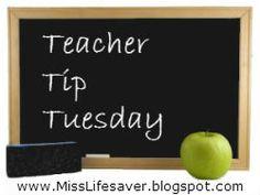 Teacher Tip Tuesday: Hall Pass Punch Card