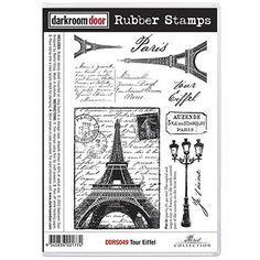 Darkroom Door Rubber Stamp Set - Tour Eiffel