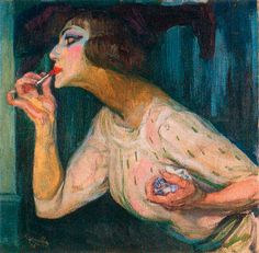 František Kupka The Lipstick, c. František Kupka was a Czech painter and graphic artist. He was a pioneer and co-founder of the early phases of the abstract art movement and. Art Et Illustration, Illustrations, Frantisek Kupka, Piet Mondrian, Fauvism, Expositions, Art Database, Paintings I Love, Oil Paintings