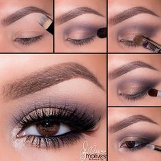 Purple and gold dusty smokey eye makeup #tutorial #evatornadoblog
