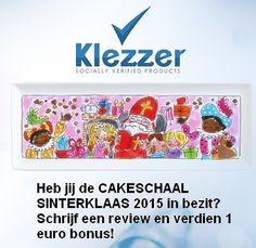 Heb jij de CAKESCHAAL SINTERKLAAS 2015 in bezit? Verdien 1 euro bonus door het schrijven van een review over de CAKESCHAAL SINTERKLAAS 2015!  Daarnaast ontvang je als nieuwe Klezzer gebruiker 1 euro bonus!