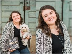Love how this senior incorporated her dog and some of her favorite quotes into her Burlington, NC senior session.