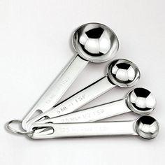 Simple Basic Goods 4 Piece Stainless Steel Measuring Spoon Set -- AMAZON BEST BUY #MeasuringSpoons