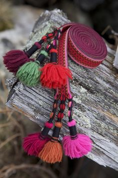 Folk Costume, Costumes, Band, Cute Designs, Tassel Necklace, Tassels, Weaving, Textiles, Charmed