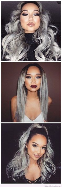 Grey hair weaves and hair extensions