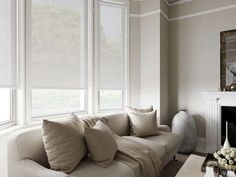 Sheer roller blinds are much neater at your windows than nets and voiles.
