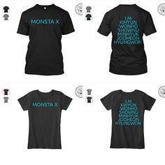 Check out my Monsta X t-shirts. Buy a shirt, if you love Monsta X. Link: https://teespring.com/monsta-x#pid=2&cid=2397&sid=front #monstax #kpop #tshirts #mentshirts #womentshirts #teespring #selling #promoting #graphicdesign #adobeillustrator #adobephotoshop #copiedesigns