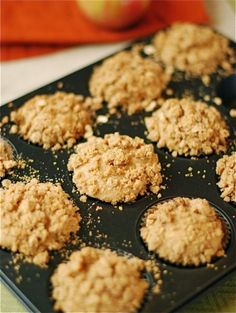 Whole wheat apple crumb muffins!