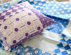 Scandinavian Nordic Style Patch Pattern Cotton by luckyshop0228, $11.90