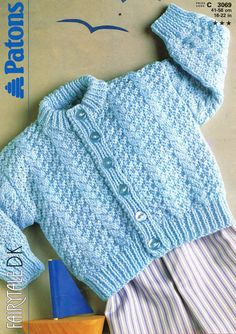 Patons 3069 baby jumper vintage knitting pattern PDF by Ellisadine, £1.00