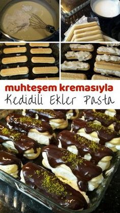 Müthiş Kremasıyla Kedidili Ekler Pasta – Nefis Yemek Tarifleri How to make Cake Recipes with Awesome Cream Cake Recipe? Here is a picture description of this recipe in the book of people and the photos of the experimenters. New Recipes, Cake Recipes, Favorite Recipes, Pastries Recipes, Red Wine Gravy, Green Curry Chicken, Onion Pie, Best Pie, Flaky Pastry