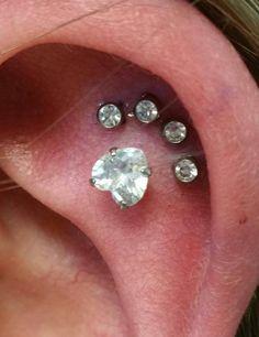 paw print piercing