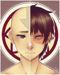 Two Sides of the Same Pai Sho Tile by prince-buggy/ I think Katara and Zuko would be more akin to the two sides - they had an awful LOT of parallels