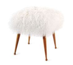 2 of these for the end of the bed. (we have them at work and they are sort of amazing. A good way to add a ton of texture!) Fur Sophia Stool 1