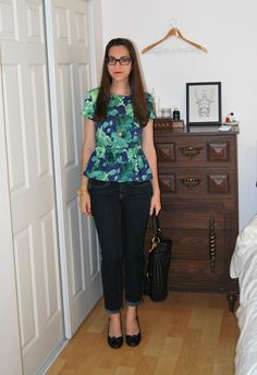 j. crew peplum top in fresco floral sateen - most gorgeous top ever!
