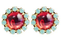 Jezebel Earrings, Red on OneKingsLane.com