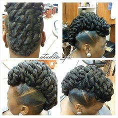 Photo from studio_yu Mom Hairstyles, African Hairstyles, Ponytail Hairstyles, Pretty Hairstyles, Bun Updo, Natural Hair Updo, Natural Hair Styles, Flat Twist Updo, Hair Due
