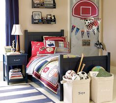 This bed in navy with the trundle