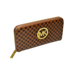 Michael Kors Outlet Embossed Leather Large Brown Wallets -save up 79% off michael kors store online !!