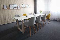 PeckaDesign & DesignVille meeting room. Dining Table, Room, Furniture, Home Decor, Bedroom, Decoration Home, Room Decor, Dinner Table, Home Furnishings