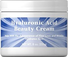 Buy Hyaluronic Acid Beauty Cream 4 oz Cream & other Facial Moisturizers products. Hyaluronic Acid Cream can help your skin maintain its firmness and elasticity, giving you a youthful-looking, healthy glow. Hyaluronic Acid Cream, Retinol Cream, Beauty Cream, Facial Care, Medical Advice, Natural Skin, Health And Beauty, The Cure, Bodies