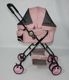 Gabriele Zechel - Hundekörbe, Le - Hundekinderwagen Dot-City Pink 96 x 75 x 46 cm bis 8 kg