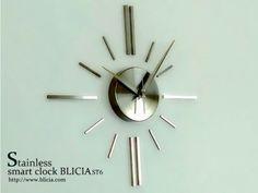 モダン壁掛け時計おしゃれな高級デザイナーズクロックBLICIA ST6画像