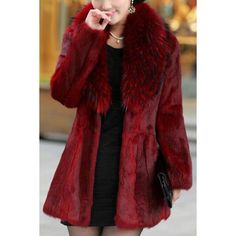 Trendy Women's Turn-Down Collar Solid Color Long Sleeve Faux Fur Coat Long Faux Fur Coat, Fur Clothing, Fashion Outlet, Women's Fashion, Fashion Seasons, Coats For Women, Moschino, Retro, Casual
