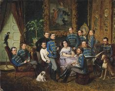 Wilhelm Richter  Portrait of Countess Julia Samoilova (1803-1875) with Austrian Hussars