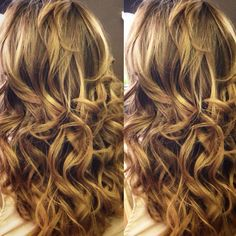 Color, golden blonde- balayage
