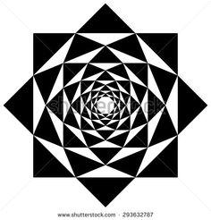 Geometric flower vector, logo design