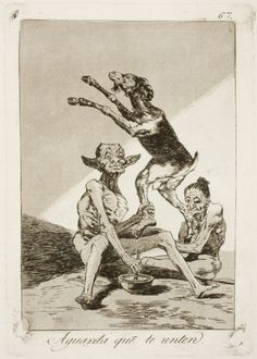 "Francisco de Goya: ""Aguarda que te unten"". Serie ""Los caprichos"" [67]. Etching, aquatint and drypoint on paper, 214 x 149 mm, 1797-99. Museo Nacional del Prado, Madrid, Spain"