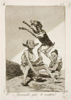 """Francisco de Goya: """"Aguarda que te unten"""". Serie """"Los caprichos"""" [67]. Etching, aquatint and drypoint on paper, 214 x 149 mm, 1797-99. Museo Nacional del Prado, Madrid, Spain"""