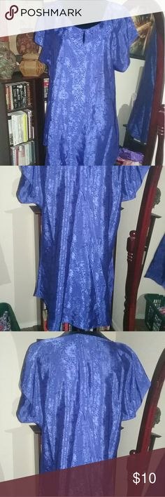 California Miss Night Pajama Dress LIKE NWOT..Blueish/Purple ish Color Night Pajama Dress..Above Knee Length very light 100 % Polyester  Short Sleeve and Lightly Worn...Beautiful Like New.. California Miss Intimates & Sleepwear