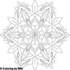 Flower Mandala Coloring Page #8