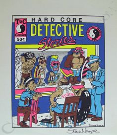 T&C Surf Designs Hardcore Detective Stories Proof Print Signed by Steve Nazar