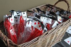 Ok these are cute and simple! casino party favors
