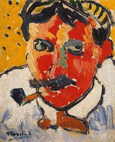 Vlaminck, Maurice de (1876-1958) - 1906 Portrait of the Artist Andre Derain